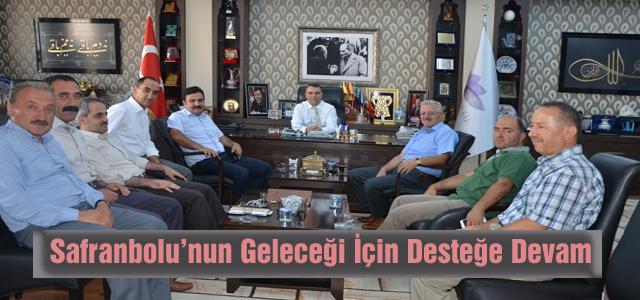 Safranbolu Belediye Başkanı Dr. Necdet Aksoy, Safranbolu TSO, Müsiad, İlim Yayma Cemiyeti, Memur-Sen ve Ensar Vakfı Başkanları ile Safranbolu'nun geleceğini konuştu.
