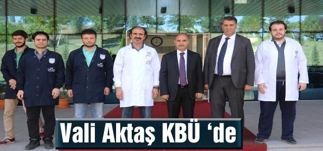 Vali Mehmet Aktaş, KBÜ Demir Çelik Enstitüsü'nü Gezdi