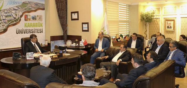Çelik İş Sendikası'ndan Rektör Prof. Dr. Refik Polat'a Ziyaret