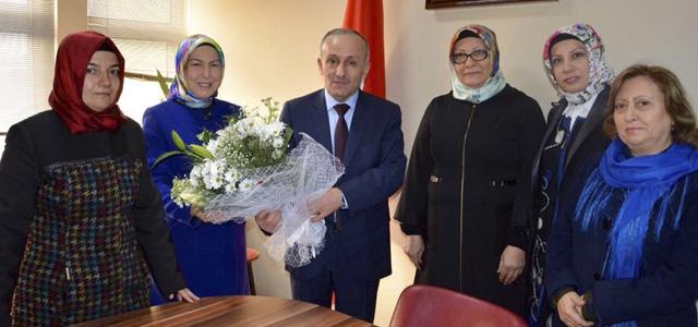 Ak Parti Karabük İl Kadın Kolları'ndan İl Milli Eğitim Müdürü Ali Köse'ye Ziyaret