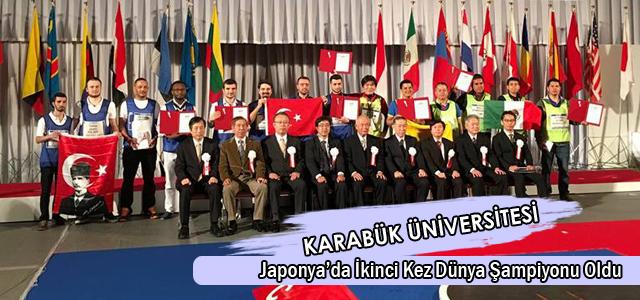 KBÜ, Japonya'da İkinci Kez Dünya Şampiyonu Oldu