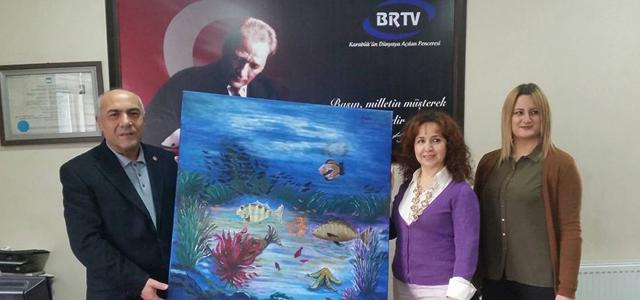 Su altı ressamı Figen Ramazanoğulları BRTV'DE