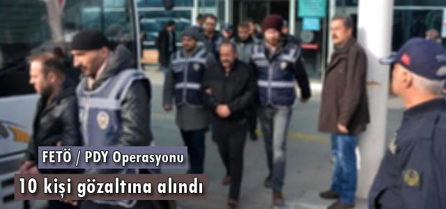Karabük'te, Fetullahçı Terör Örgütü/Paralel Devlet Yapılanması'na (FETÖ/PDY) yönelik operasyonda 10 kişi gözaltına alındı.