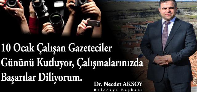 Başkan Aksoy'un 10 Ocak Çalışan Gazeteciler Günü Kutlama Mesajı