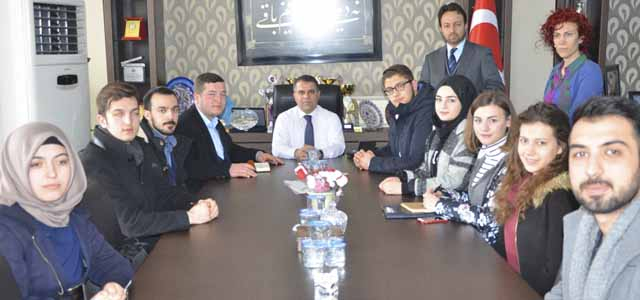 Kent Konseyi Gençlik Meclisi başkan Aksoy'u Ziyaret Etti