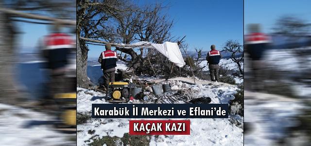 Karabük İl Merkez Ve Eflani'de Kaçak Kazı