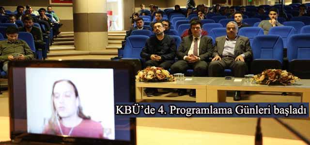 KBÜ'de 4. Programlama Günleri başladı