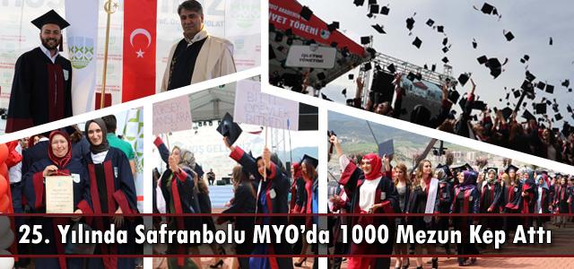 25. Yılında Safranbolu MYO'da Bin Mezun Kep Attı