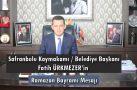 Safranbolu Kaymakamı / Belediye Başkanı ÜRKMEZER'in Bayram Mesajı