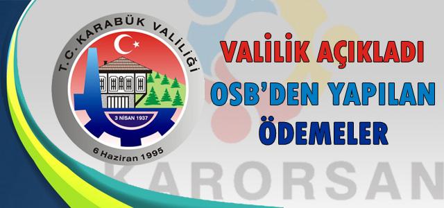 OSB'den Yapılan Ödemeler…
