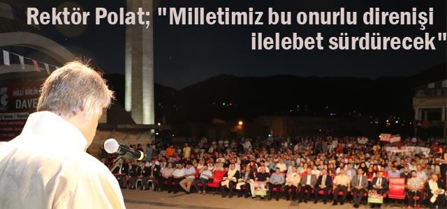 KBÜ'de 15 Temmuz Milli Birlik Etkinliği