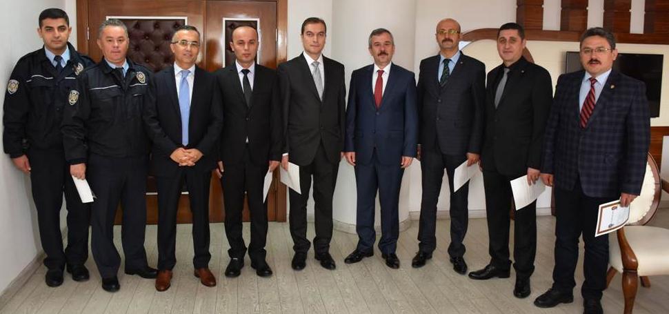 Vali Çeber, İl Emniyet Müdürlüğünü ziyaret etti