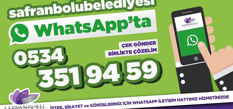 Safranbolu Belediyesi Whatsapp'ta