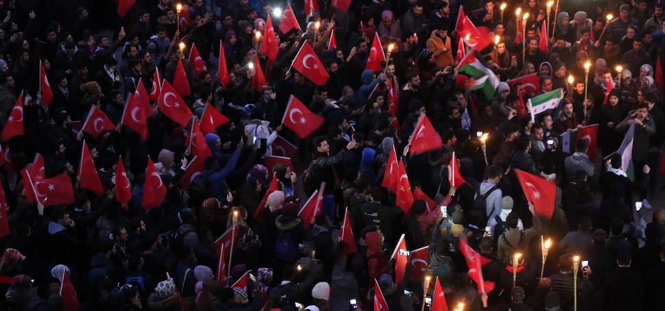 KARABÜK ÜNİVERSİTESİ'NDE 'KUDÜS' PROTESTOSU