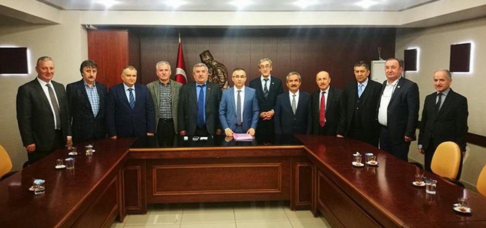 Yenice Platformu'ndan Vali Çeber'e ziyaret