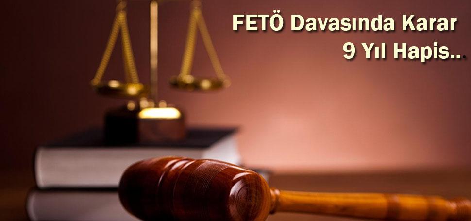 FETÖ'cü eski subaya 9 yıl hapis cezası