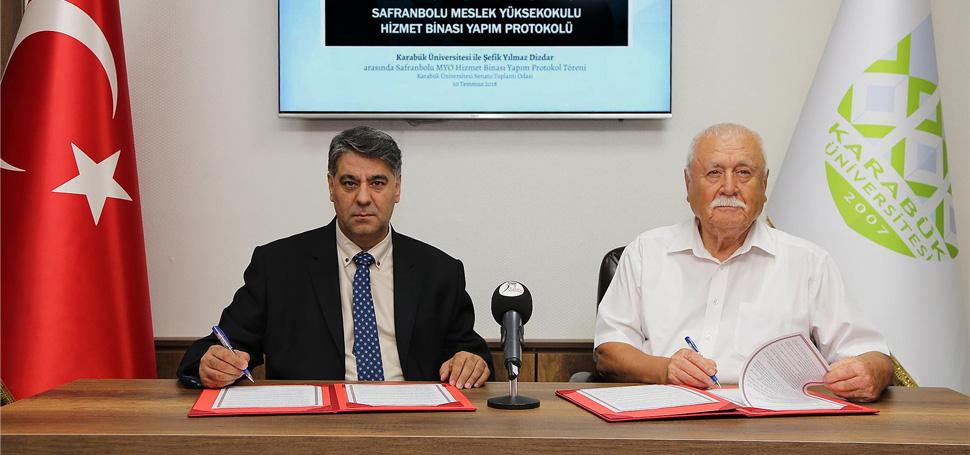 Safranbolu MYO Binası Protokolü İmzalandı