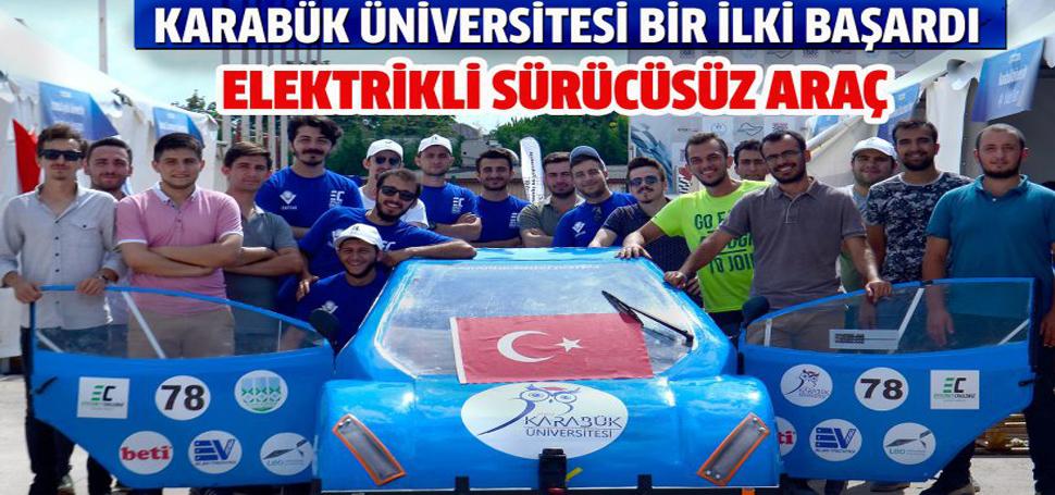 Karabük Üniversitesinin ilk sürücüsüz aracı yeterlilik aldı
