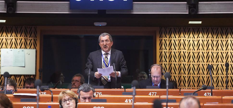 Başkan Vergili, Avrupa Konseyinde konuştu