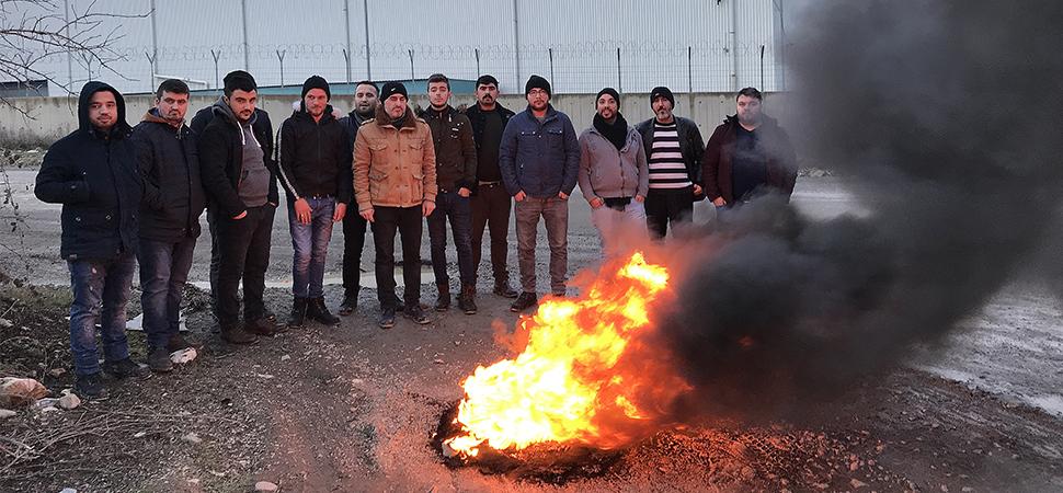 Fabrika işçilerinden eylem
