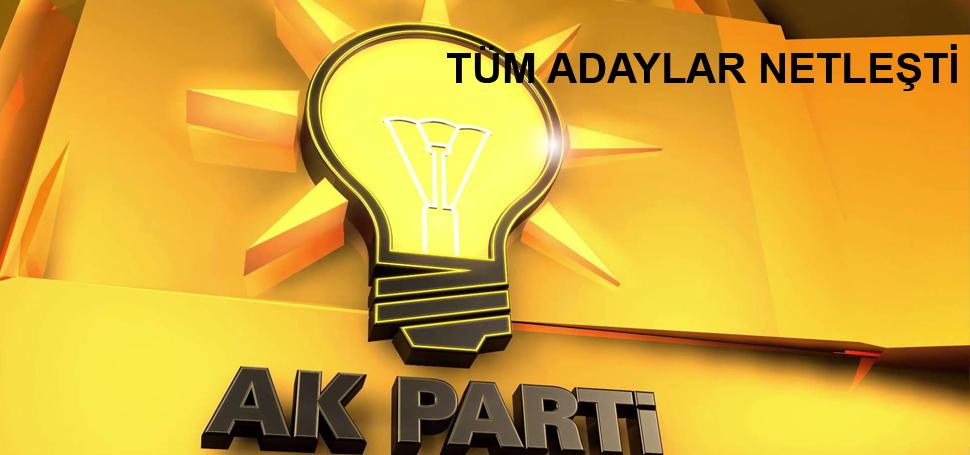 AK Parti'de tüm ilçeler belli oldu