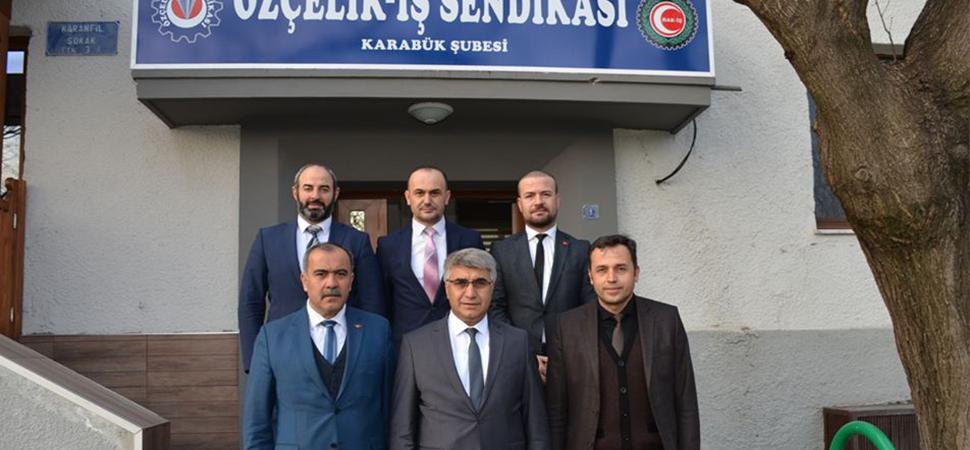 VALİ GÜREL'DEN ÖZÇELİK-İŞ SENDİKASINA ZİYARET