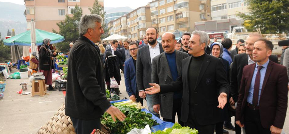 """""""MODERN PAZAR ALANLARI İNŞAA EDECEĞİZ"""""""