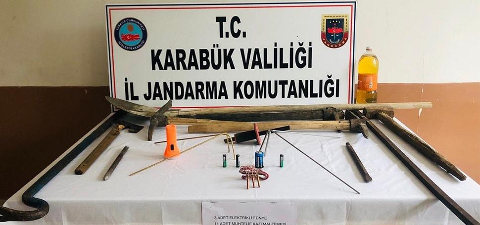 Sırçalı'da kaçak kazı operasyonu