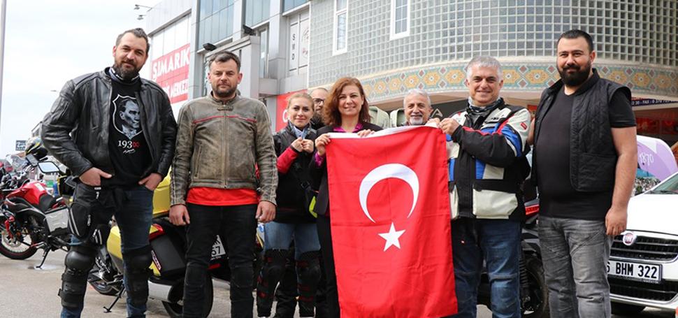 Müze Kent Motosiklet Kulübü Samsun'a yola çıktı