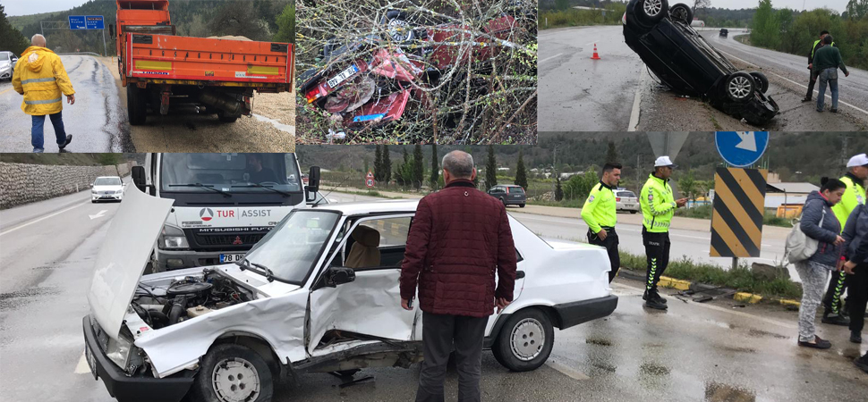 3 ayrı trafik kazasında 9 kişi yaralandı