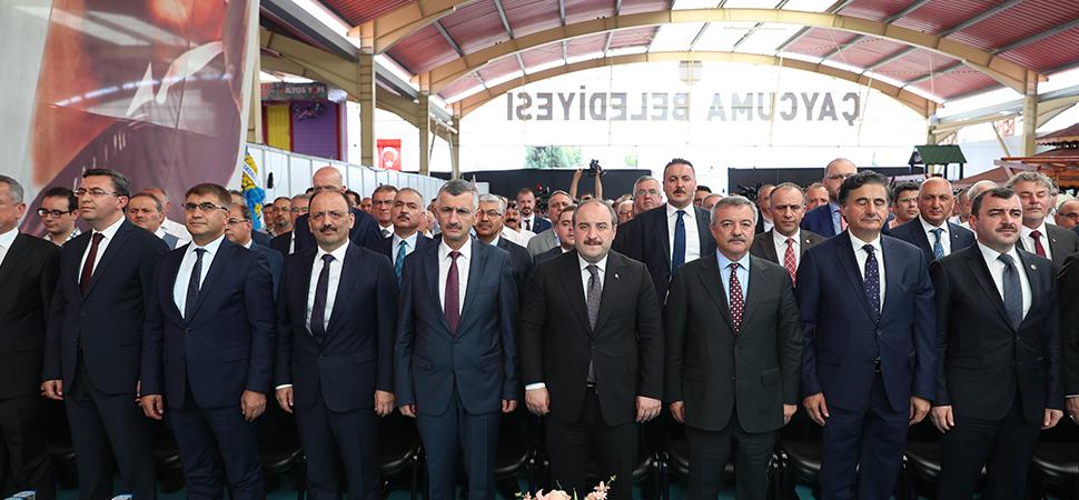 Sanayi ve Teknoloji Bakanı Mustafa Varank Çaycuma'da