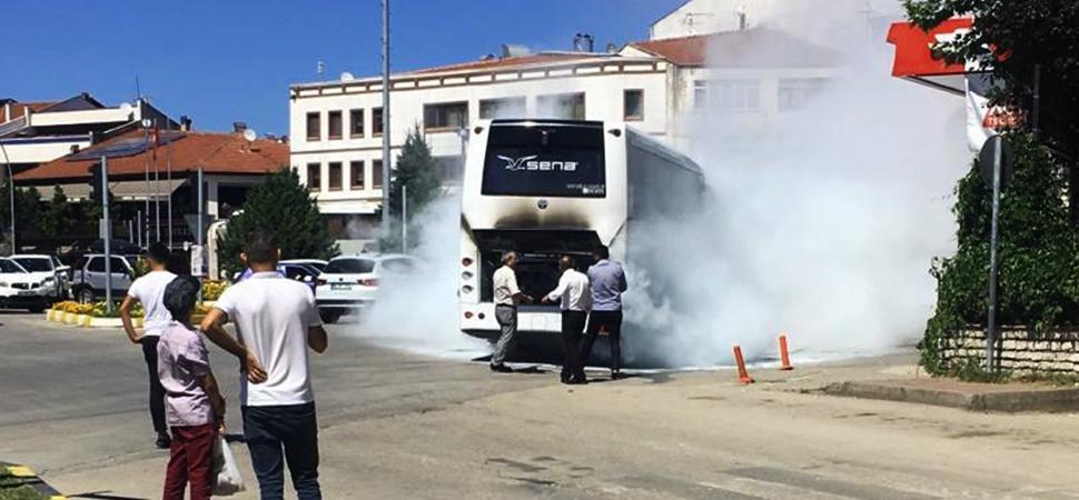 Safranbolu'da Tur Otobüsünde Yangın Çıktı
