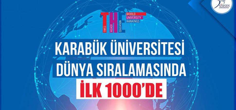 KBÜ, Dünyanın En İyi Üniversiteleri Arasında