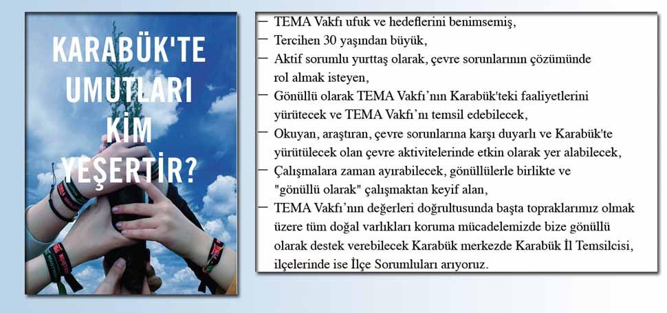 Karabük'te Gönüllü İl Temsilcisi ve İlçe Sorumluları Arıyor!
