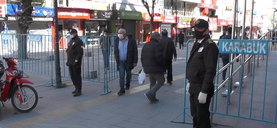 Maskesi Olmayan Vatandaşlar Caddeye Alınmadı