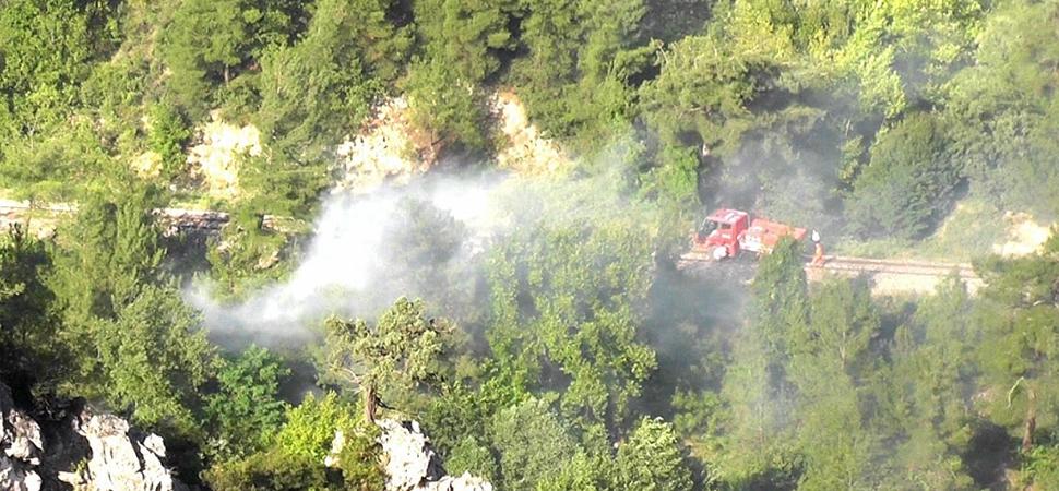 Bolkuş Köyünde Çıkan Örtü Yangınında 5 Dekar Alan Yandı
