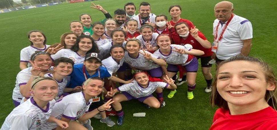 Ereğlili kadın futbolcular ilk maçında 3 puan aldı