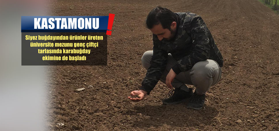 Genç Çiftçi Karabuğdayda İlk Ekimi Yaptı
