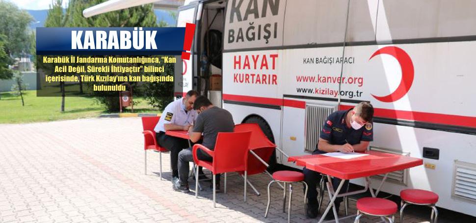 Jandarmadan Türk Kızılay'ına Kan Bağışı