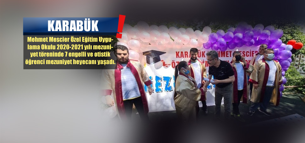 7 özel öğrenci mezuniyet coşkusu yaşadı